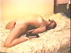 Young roped wife hardcore punished in pussy by mature master